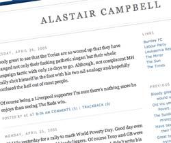 Not Alastair Campbell's blog