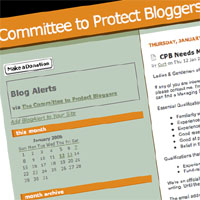Committee to Protect Bloggers calls for new help at the top