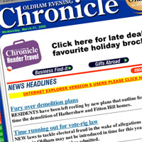RSS has yet to hit the Oldham Chronicle