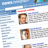 Telegraph rolls out blogs for 2006