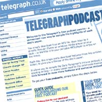 Telegraph launches audio news feed