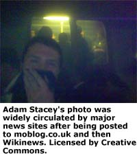 Adam Stacey's mobile phone photo